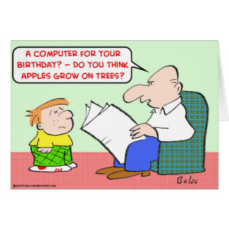 apples grow trees computer birthday card