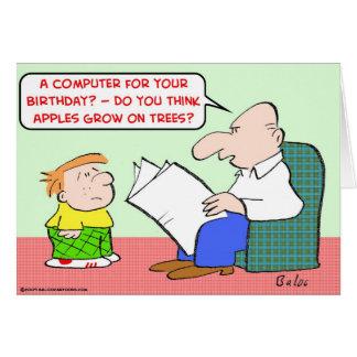 apples grow trees computer birthday card