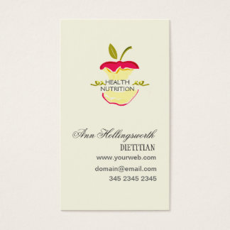 Apples Health  Nutrition Weight Loss Business Card