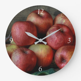 Apples Large Clock