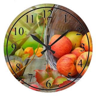 Apples Large Clock