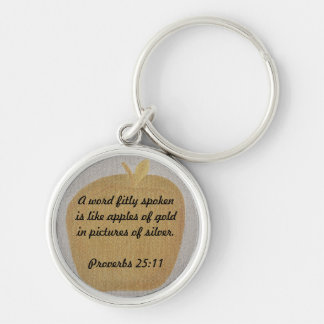 Apples of gold Pictures of Silver Proverbs Key Ring