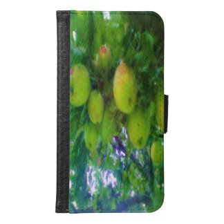 Apples on a tree samsung galaxy s6 wallet case