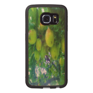Apples on a tree wood phone case