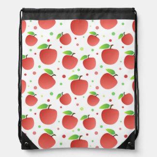 Apples pattern drawstring bags