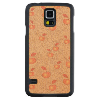 Apples Pattern Carved Maple Galaxy S5 Case
