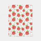 Apples pattern fleece blanket