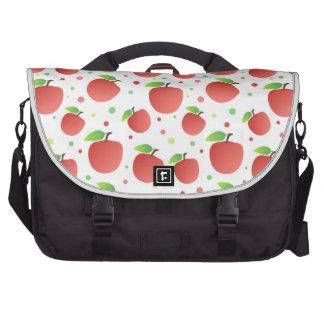 Apples pattern laptop bag