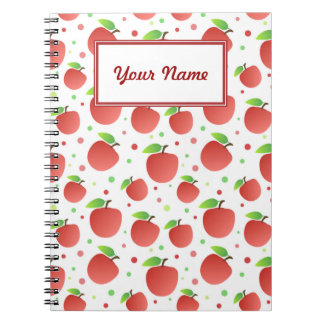 Apples pattern notebooks