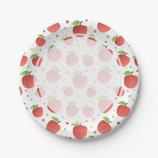 Apples pattern paper plate