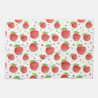 Apples pattern tea towel