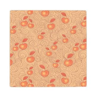 Apples Pattern Wood Coaster