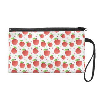 Apples pattern wristlet clutch