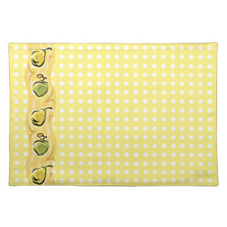 Apples, Pears and Polka Dots Place Mat