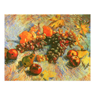 Apples Pears Lemons & Grapes Van Gogh Fine Art 21.5 Cm X 28 Cm Flyer