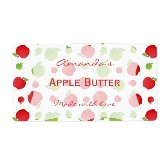 Apples Personalised Canning Label
