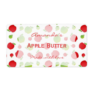 Apples Personalized Canning Label Shipping Label