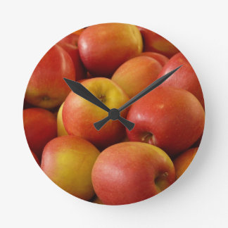 Apples Round Clock