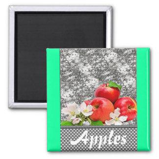 Apples Square Magnet
