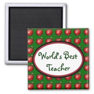 Apples Square Magnet