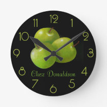 Apples Still Life Oil on Canvas Painting custom Round Clock