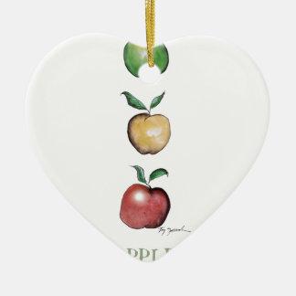Apples, tony fernandes ceramic heart decoration