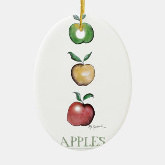 Apples, tony fernandes ceramic oval decoration