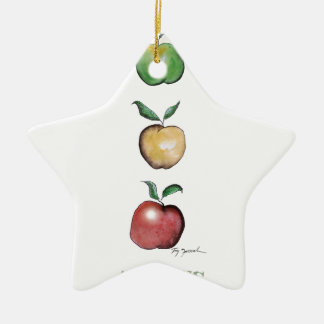 Apples, tony fernandes ceramic star decoration