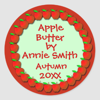 Applesauce or Apple Butter Labels Round Sticker