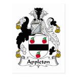 Appleton Family Crest Postcard