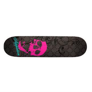 Appleton pink skull 21.6 cm skateboard deck