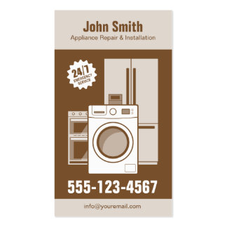 Appliance Repair, Service and Installation Pack Of Standard Business Cards