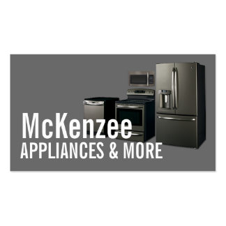 Appliances Sales Installation Repair Pack Of Standard Business Cards