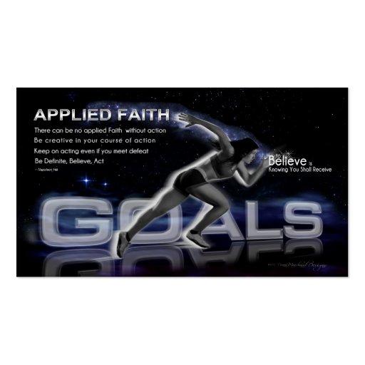 Applied Faith Goal Card Business Card