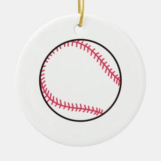 Applique Baseball Christmas Ornament