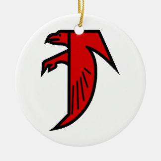 Applique Falcon Christmas Ornament