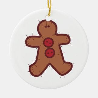 Applique Gingerbread Christmas Ornament