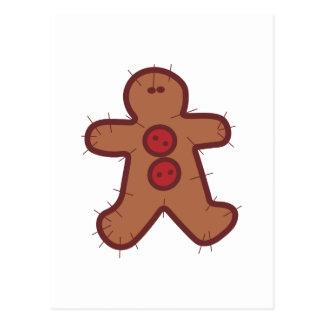 Applique Gingerbread Postcard