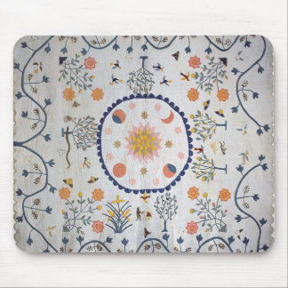 Applique quilt with Sun, Moon, Stars Mouse Pad