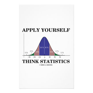 Apply Yourself Think Statistics (Bell Curve) Custom Stationery
