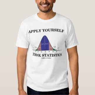 Apply Yourself Think Statistics (Stats Humor) T Shirts