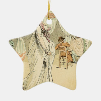 Appointment at the cafe de Tuileries 1898 Christmas Ornament