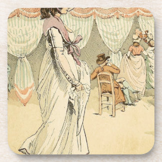 Appointment at the cafe de Tuileries 1898 Coaster