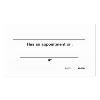 """""""Appointment"""" business cards"""