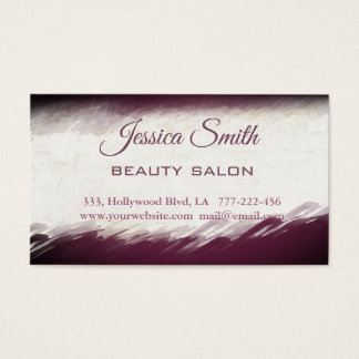 Appointment card chic elegant eggplant watercolor