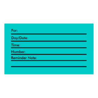 Appointment Card Pack Of Standard Business Cards