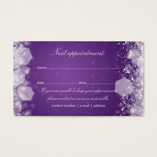 Appointment Card Sparkling Night Purple