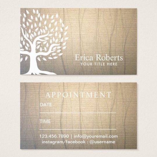 Appointment Card | Vintage Tree Elegant Linen