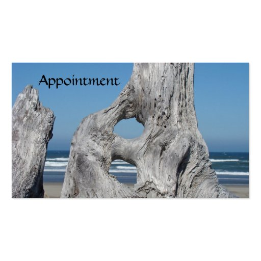 Appointment Cards Blue Ocean Waves Driftwood Business Card Template