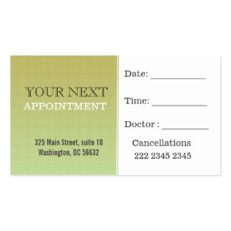 Appointment Dark khaki Minimal Plaid Pattern Pack Of Standard Business Cards